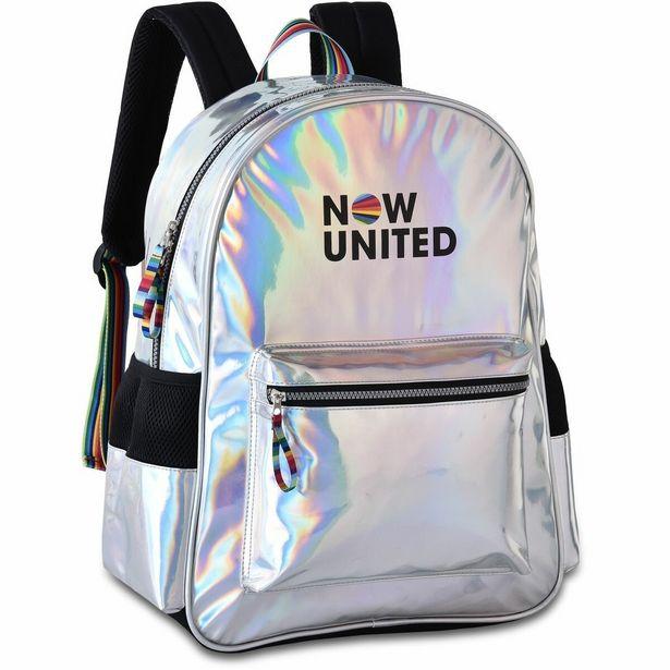 Oferta de Mochila Escolar NOW United G Holografica por R$169,9