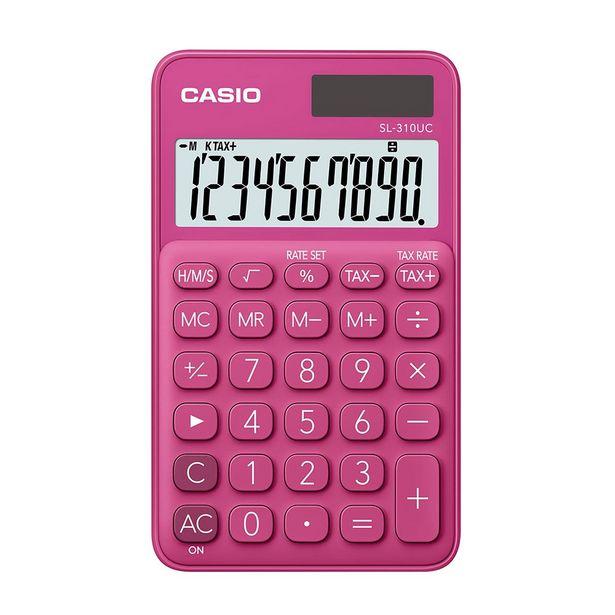 Oferta de Calculadora Portátil Casio C/ Visor Amplo 10 Dígitos e Alimentação Dupla por R$49,9
