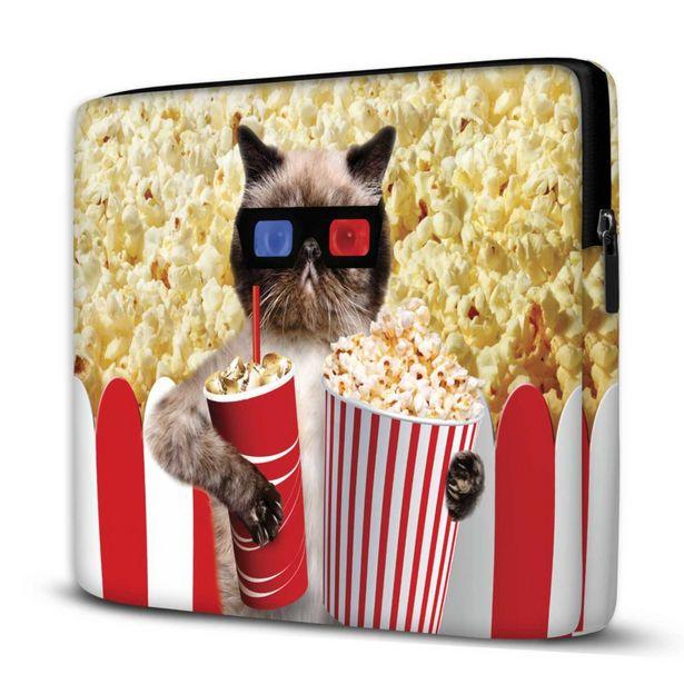 Oferta de Capa Para Notebook Popcorn Cat 15.6 À 17 Polegadas Com Bolso por R$77,94
