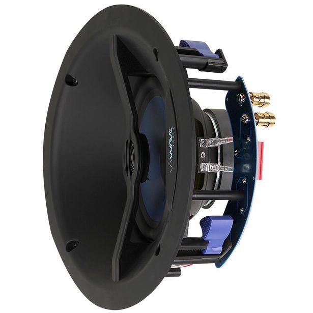 """Oferta de Caixa de Embutir Angulada Wave Sound WIN120 6,5"""" 120w - Tela Branca Quadrada (UN) por R$669"""