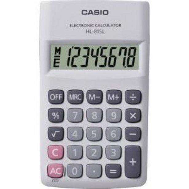 Oferta de Calculadora de Bolso 8 Digitos HL815L Branca Casio por R$27,9