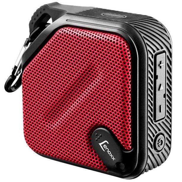 Oferta de Speaker Lenoxx Antirespingo 5W BT-501 - Vermelho/Preto por R$86,9