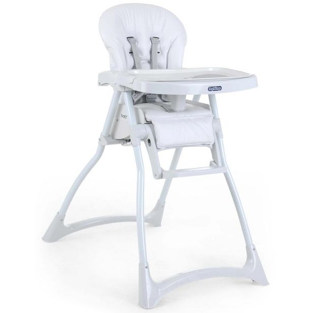 Oferta de Cadeira Para Refeição Burigotto Com Encosto Reclinável Merenda Branca por R$419,88