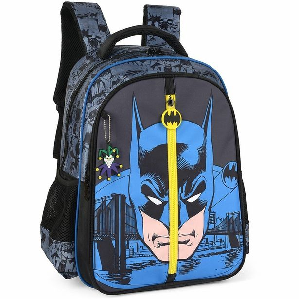 Oferta de Mochila Escolar Batman GD 3BOLSOS Preto por R$199,9