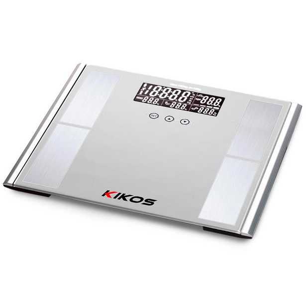 Oferta de Balança Phoenix Kikos - Sensores Alta Precisão, Mede Massa Óssea e Muscular, Gordura, Líquido, Até 150 KG, Memória Para 10 Usuários, Dimensão 31x31cm por R$302,9