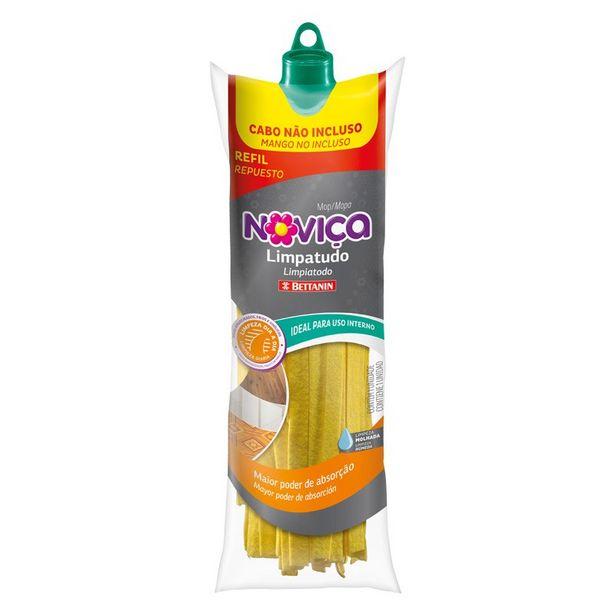 Oferta de Mop Limpa Tudo Novica Amarelo Refil por R$26,12