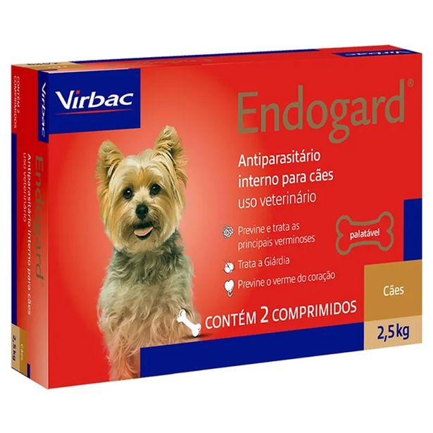 Oferta de Vermífugo Endogard Cães Até 2,5kg - 2 Comprimidos - Virbac por R$11,99