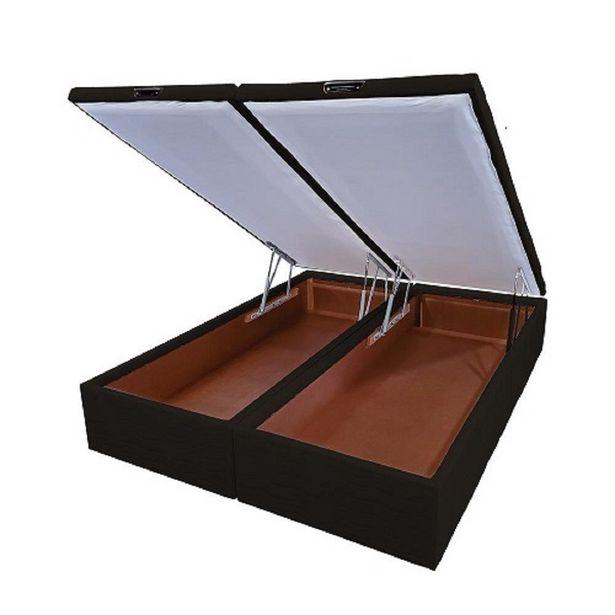 Oferta de BASE BOX BAÚ MANUAL SUEDE GRAFITE PREMIUM 158X198X039 CM por R$999,9