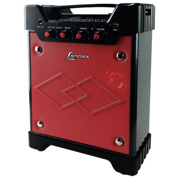 Oferta de Caixa Amplificadora 40W Lenoxx, com Entrada USB, Rádio FM, Micro SD, Entrada Auxiliar, Bateria Recarregável, Portátil, Alça Para Transporte - CA302 por R$209