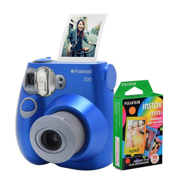 Oferta de Câmera Polaroid Instantânea PIC 300 Azul C/ Filme 10 Poses por R$684,9
