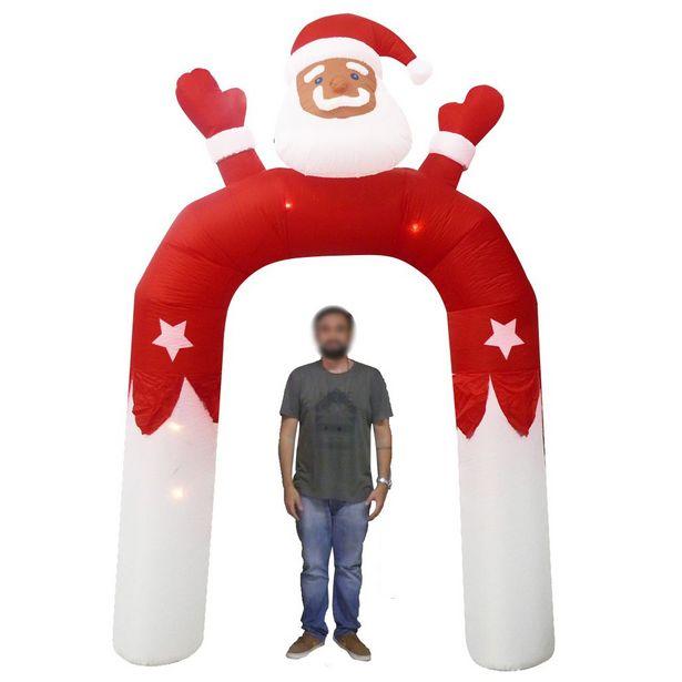 Oferta de Papai Noel Natal Em Arco Inflavel Natalino 3 Metros e 15 Cm Decoracao por R$495,95