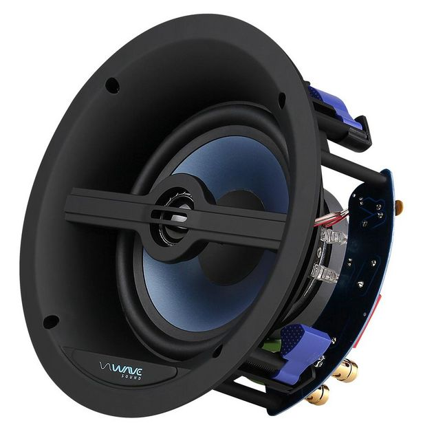 """Oferta de Caixa de Embutir Wave Sound WSR120 6,5"""" 120w - Tela Quadrada Branca (UN) por R$505"""