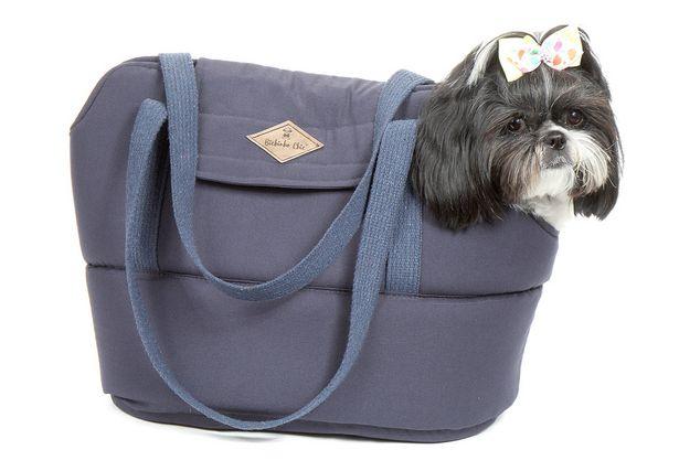 Oferta de Bolsa Para Cachorro Pet Londres Pequeno - P - Azul - Bichinho Chic por R$113,17