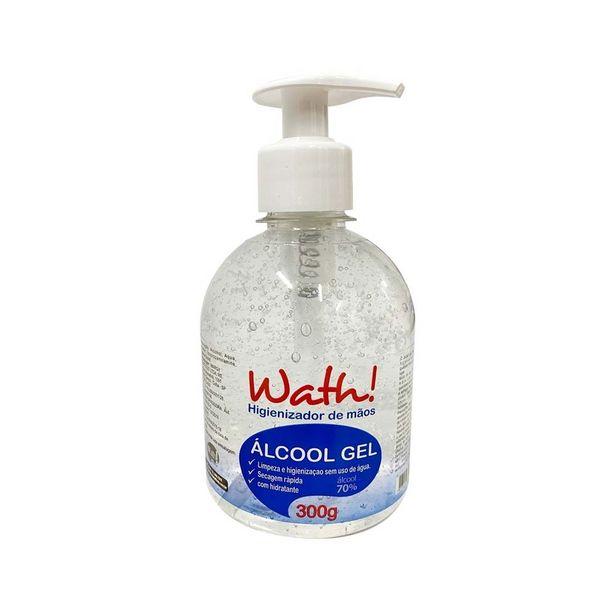 Oferta de Álcool Gel 70% Higienizador Para As Mãos Wath! - 300g por R$14,15