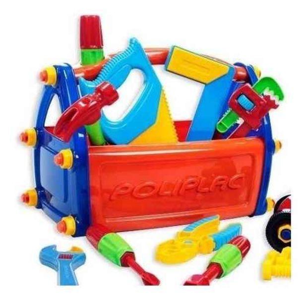 Oferta de Brinquedo Infantil Caixa De Ferramentas - Poliplac por R$72,9