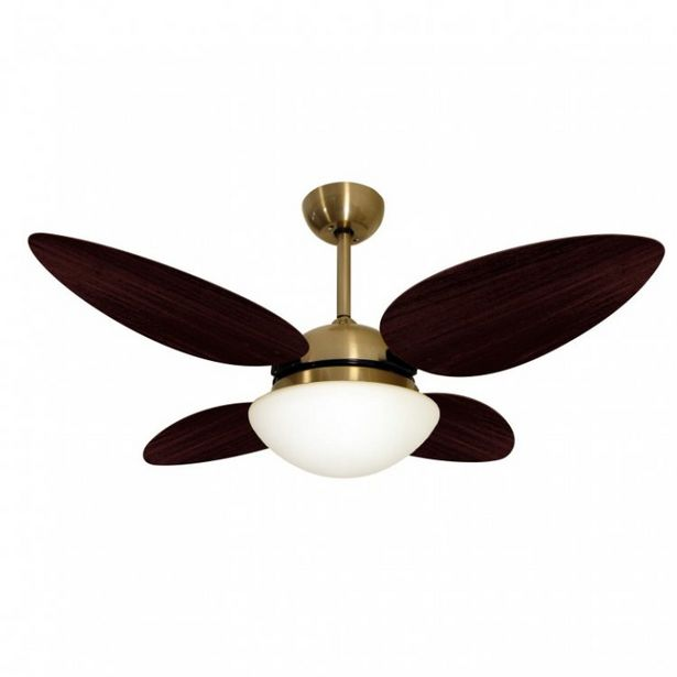 Oferta de Ventilador de Teto Bronze VR42 Pétalo Volare Tabaco por R$1186,9