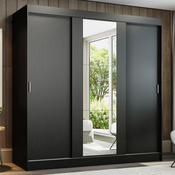 Oferta de Guarda-Roupa Casal Madesa Reno 3 Portas de Correr Com Espelho por R$1489,99