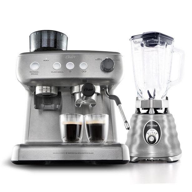 Oferta de Kit Cafeteira Espresso Xpert e Liquidificador Osterizer Aço Escovado por R$2899,9