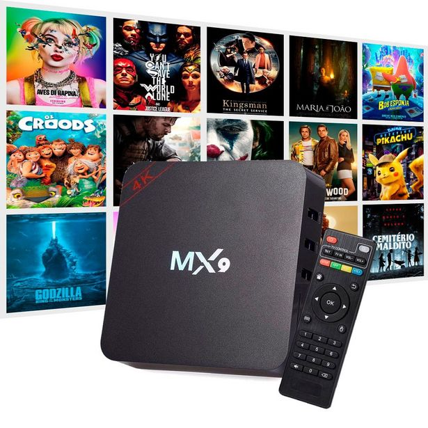 Oferta de Conversor Box MX9 4K Ultra HD Android 9.0 4GB RAM por R$249,99
