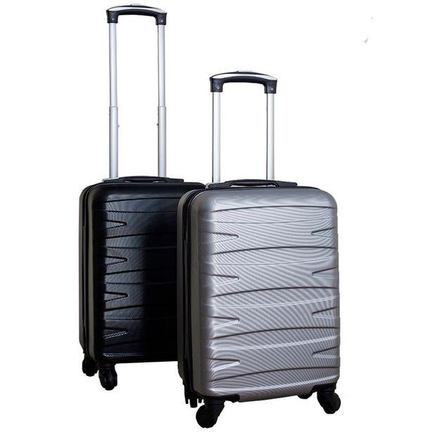 """Oferta de Kit C/ 2 Malas de Bordo Stile 18"""" - Preta e Cinza por R$319"""