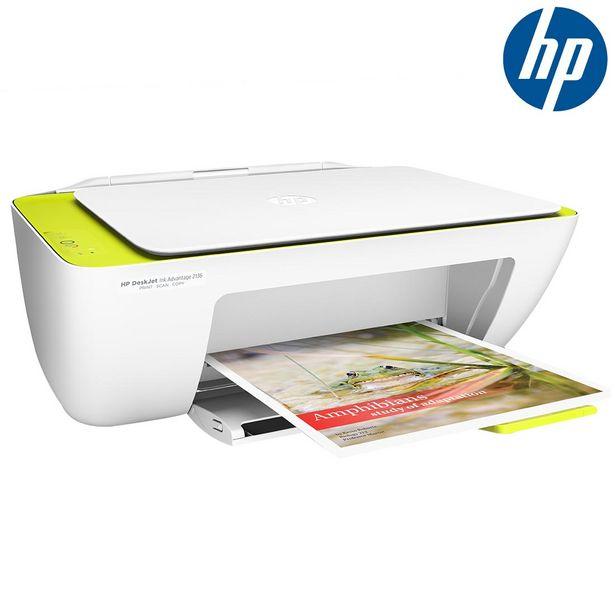 Oferta de Multifuncional Jato de Tinta HP Deskjet Ink Advantage 2136 Com Resolução de 4800dpi, Velocidade de 20ppm Preto e 16ppm Cores, Conexão USB por R$299