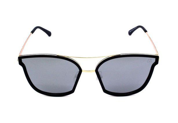 Oferta de Óculos de Sol Khatto Cat Kable Preto Lente Prata por R$99,9