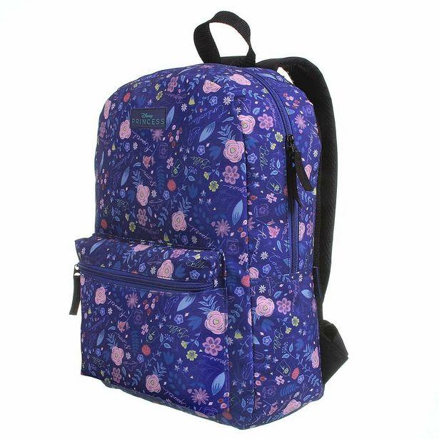 Oferta de Mochila Escolar Princesas Blue Flowers G por R$254,9