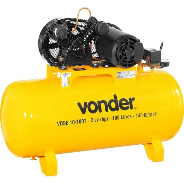 Oferta de Compressor de Ar Baixa Pressão 10 Pés 100 Litros Trifásico - VDSE - Vonder por R$2399,9