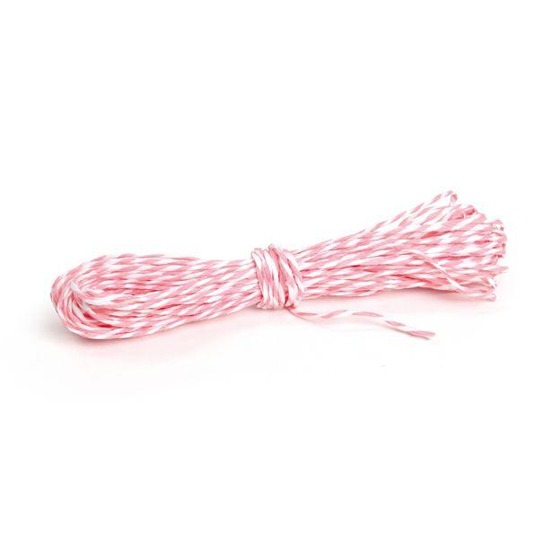 Oferta de Fio Decorativo Papel Branco/Rosa Claro 5M Dec. Festas por R$6,9