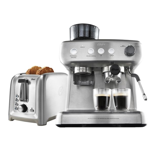 Oferta de Kit Cafeteira Espresso Perfect Brew e Torradeira Inox Oster por R$3099