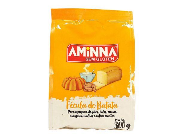 Oferta de Kit 6 Espessante Fécula de Batata Sem Glúten 300g Aminna por R$37,9