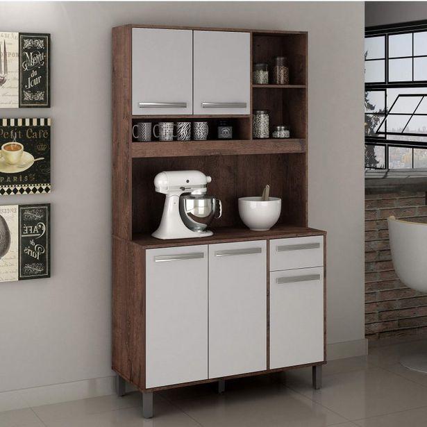 Oferta de Armário de Cozinha 5 Portas 1 Gaveta Ametista Valdemóveis por R$699