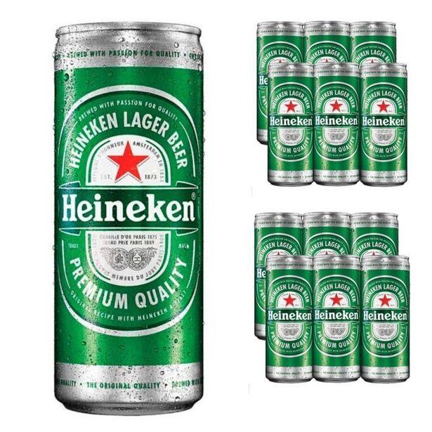 Oferta de Pack Com 12 Unidades Cerveja Heineken Lata 250 Ml por R$78,04