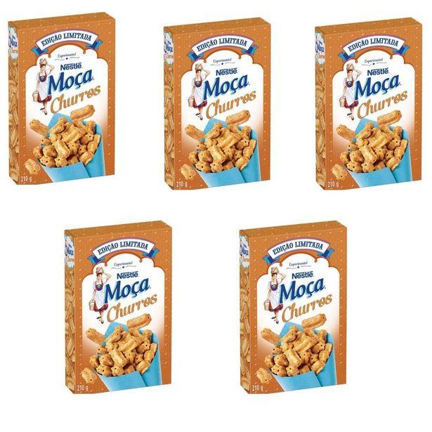 Oferta de Cereal Matinal Moça Churros 210g - Kit Com 05 Unidades por R$72,92