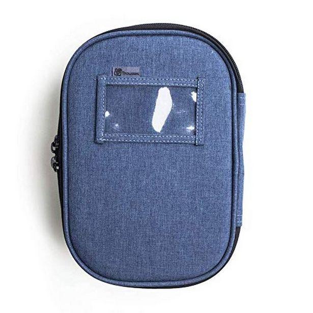 Oferta de Estojo Escolar Box Jeans Para Canetas Lápis Lapiseiras Azul por R$109,9