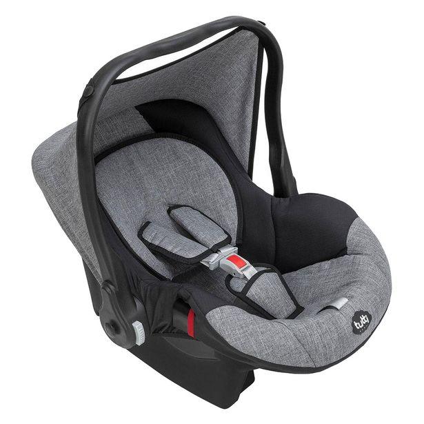 Oferta de Bebê Conforto Tutty Baby Até 13 Kg Com Capota Preto E Cinza por R$290,9