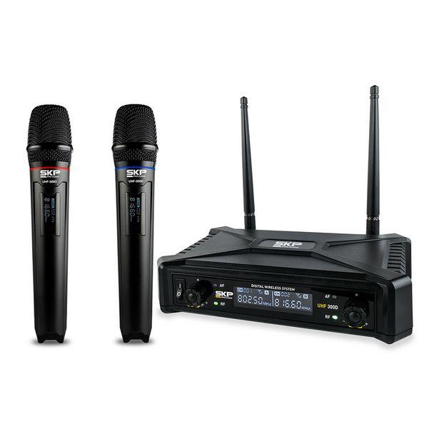 Oferta de Microfone SKP Sem Fio Digital UHF 300 D - AC2235 por R$729,9