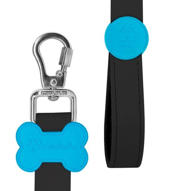 Oferta de Peitoral H Com Guia Para Cachorro Pet NEON Azul - M - Médio - Meu AuAu por R$83,41