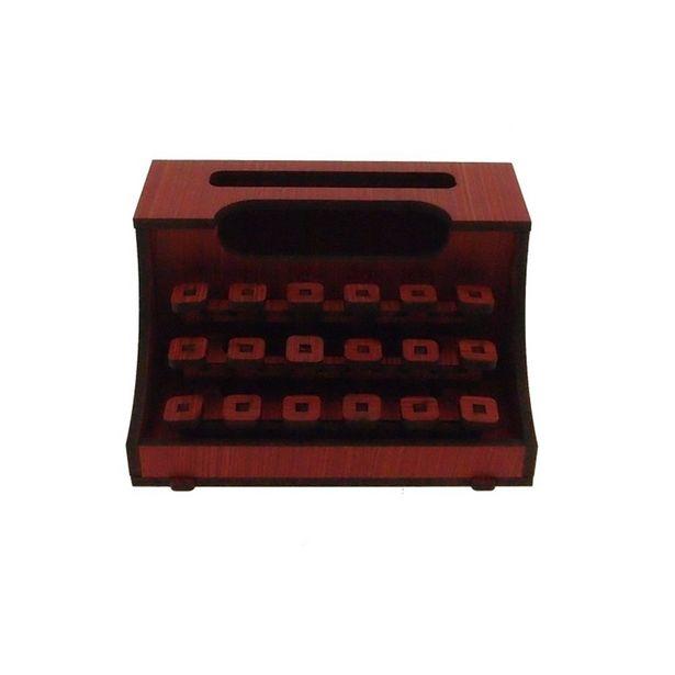 Oferta de Maquina De Escrever Decorativa Vermelha Madeira por R$9,9