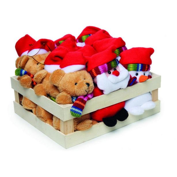 Oferta de Enfeite Papai Noel Rena P/ Pendurar Árvore Natal 12 Pçs Vermelha por R$399,9