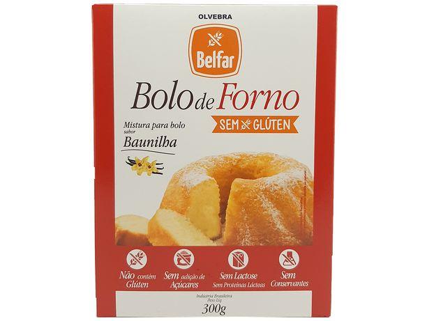 Oferta de Mistura Para Bolo Baunilha Sem Glúten Sem Açúcar Belfar 300g por R$24,49
