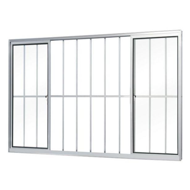 Oferta de Janela de Correr Alumínio 4 Folhas Com Grade MGM Soft 100cmx150cm Vidro Liso Incolor Branco por R$969,9