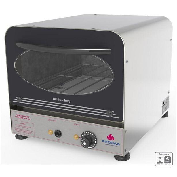 Oferta de Forno Compacto Elétrico Refratário PRPE-200 Inox - Progás por R$567,23