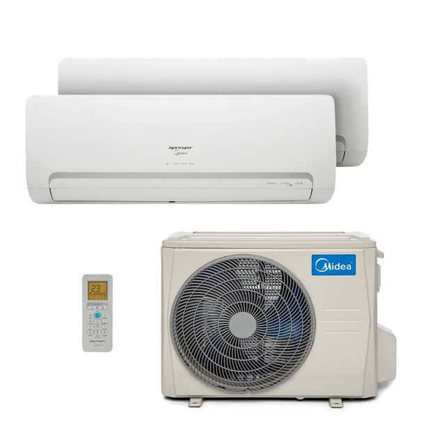 Oferta de Ar Condicionado Multi Bi Split Hw Inverter Springer Midea 2X9000 Btus Quente/Frio 220V 1F 38MBBA18M5 por R$6499