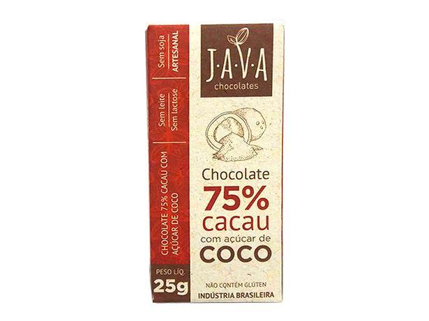 Oferta de Kit 10 Chocolate 75% Cacau Açúcar Coco Vegan Sem Glúten 25g por R$61,9