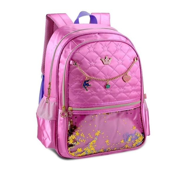 Oferta de Mochila Escolar Clio Sweet Queen Sq3154j - Rosa por R$94,9