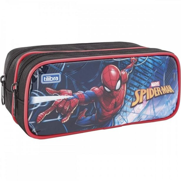 Oferta de Estojo Escolar Spider Man Duplo Tilibra 149047 por R$47,9