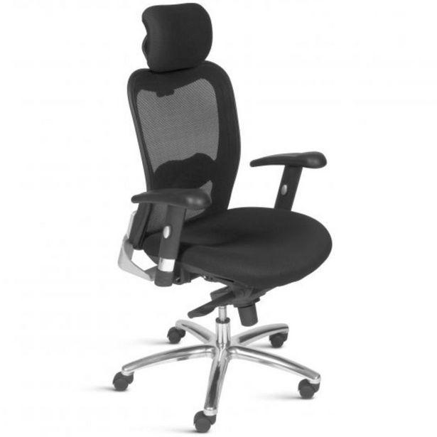 Oferta de Cadeira de Escritório Giratória Presidente Executiva New Ergon Preto - Lyam Decor por R$2169,9