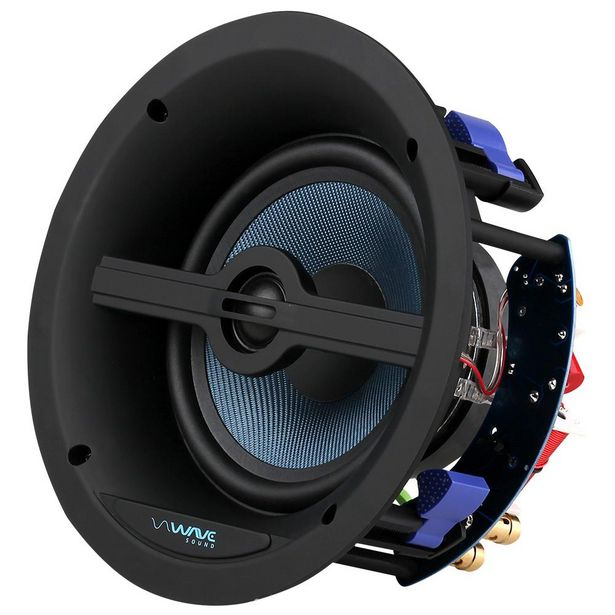"""Oferta de Caixa de Embutir Wave Sound WSR150 6,5"""" 150w - Tela Quadrada Branca (UN) por R$706"""