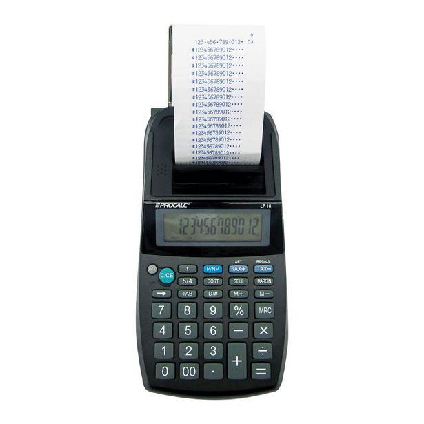 Oferta de Calculadora De Impressão Procalc Lp18 12 Dígitos Calculadora por R$299